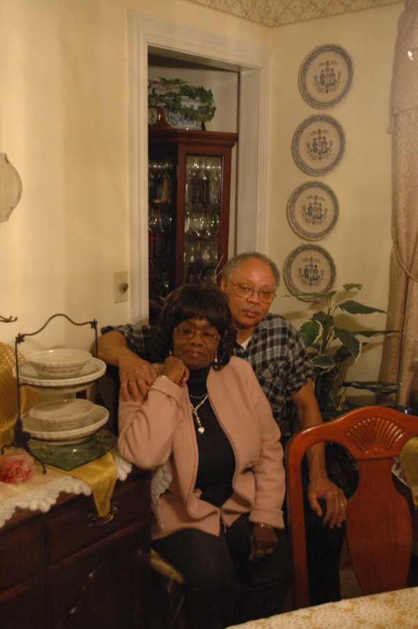 The Hutsells at their home in Hamden.