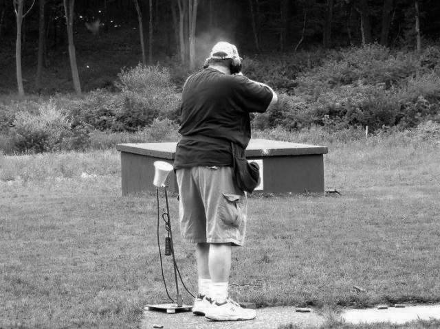 A gun owner at a 2010 CCDL event. Photo courtesy of the Connecticut Citizens Defense League.