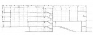 Blueprint for the Yale Center for British Art